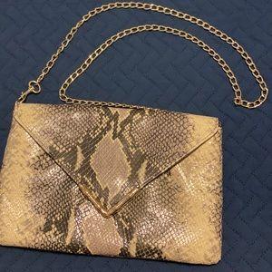 Elaine Turner snakeskin clutch/purse